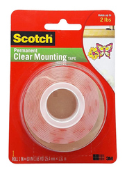 Scotch 3M Permanent Mounting Tape, 4010, Clear