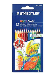 Staedtler 12-Piece Noris Club Coloured Pencil Set, ST-144 NC12, Multicolour