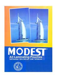 Modest A3 Laminating Pouches, 125 Micron, 100 Pieces, Multicolor