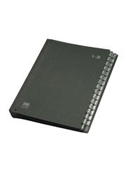 Elba 42418 Fiberboard Signature Book, 32 Dividers, A4 Size, Black