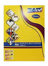 Xellent CD Laser Labels A4, 117 x 117 x 17mm Dia, 2Lables/Sheets, Multicolour