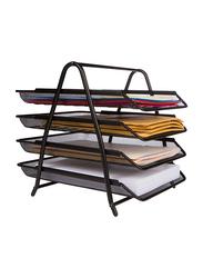 25 Home Decor 4-Letter Tray Office Desk Organizer, Black