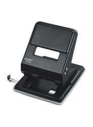 Kangaro 36-Sheets Capacity Paper Punch with Metal Guide Bar, DP-720, Black