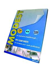 Modest PVC Clear Sheets, A4 Size, Blue