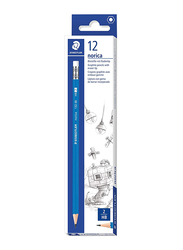 Staedtler 12-Piece Norica 132 Pencils with Eraser Set, PKT ST-132-46-A53, Black