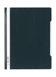 Durable 2570-01 Clear View Plastic Folder with Index Strip, Extra Wide A4 Size, 50-Piece, Black
