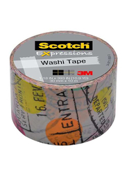 Scotch C314 P1 1 Expressions Washi Tape, 30 x 10mm, Clear