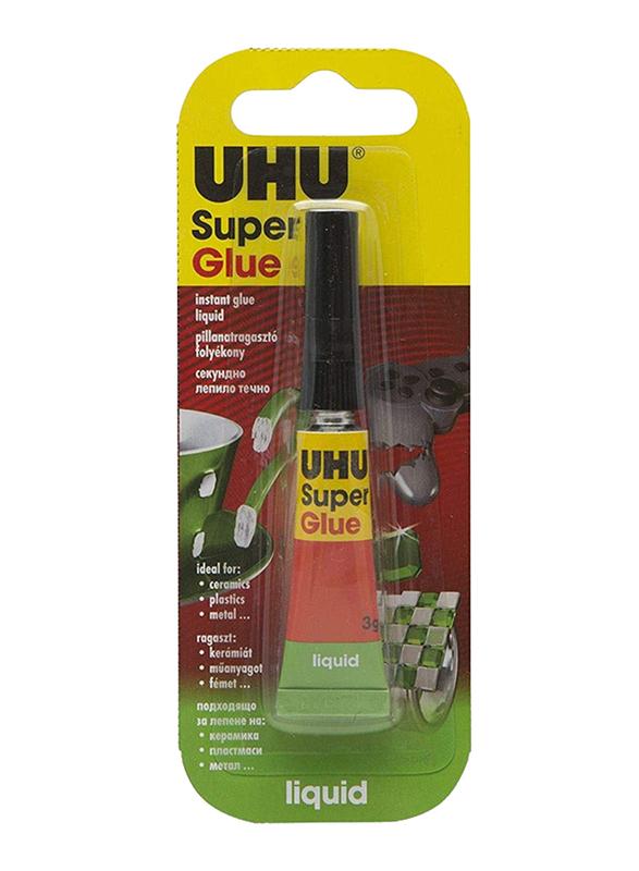UHU Liquid Super Glue, 3gm, Multicolor