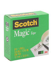 Scotch 810 Magic Tape, 19m x 32.9m, Green