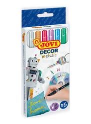 Jovi Felt Tip Pens Jovidecor Metallic Case, 6 Pieces, Multicolor