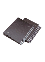 Elba 42414 Fiber Board Signature Book, 24 Dividers, A4 Size, A to Z Pages, Black