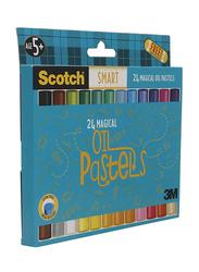 Scotch Smart Magical Oil Pastels Color, 24 Pieces, Multicolor
