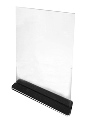 RY Display T-Shaped Acrylic Sign Holder for school/Business, 8.5 x 11 Inch, Clear