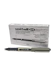 Uniball 12-Piece Eye Fine Rollerball Pen, 0.5mm Set, Black