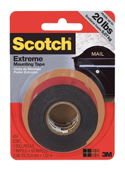 Scotch 3M Extremely Strong Mounting Tape, 1 x 60 Inch, Black