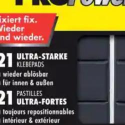 UHU 40790 Patafix Propower Pads, Black