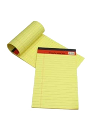 Sinarline Legal Lining Writing Pad, 50 Sheets, A4 Size, 10 Pieces, Yellow
