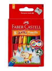 Faber-Castell 8-Piece Jumbo Color Pencils Set, Multicolor