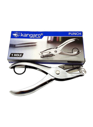 Kangaroo Paper Puncher with One Hole, Silver