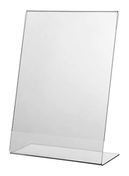 Acrylic L-Type Sign Holder, A4 Size, 210 x 297mm, Clear