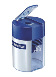 Staedtler 1 Hole Sharpener with Cover, 511 001, Silver/Blue