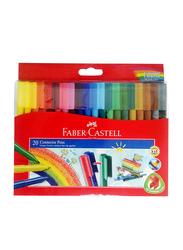 Faber-Castell 20-Piece Coloring Connector Pen Set, Multicolor