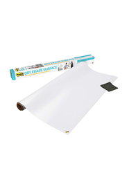 3M Post-It DEF6X4 Dry Erase Surface Whiteboard Film, 6 x 4 Feet, White