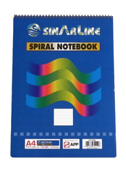 Sinarline SP03846 Top Spiral Notebook, 70 Sheets, 56 GSM, A4 Size, 6 Pieces, Multicolor