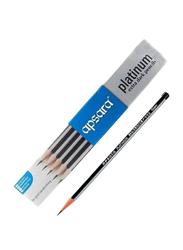 Apsara Platinum Extra Dark Pencils with Eraser and Sharpener, 10 Pieces, Black