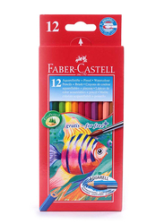Faber-Castell 12-Piece Watercolour Pencil Set, Multicolour