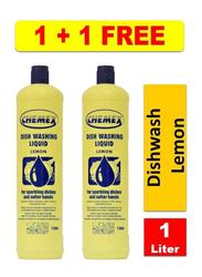 Chemex Dish Washing Liquid Lemon, 2 Pieces x 1 Liter
