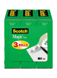 Scotch Magic Tape, 3/4 x 1296 Inches, 3 Rolls, 810-3PK, Transparent