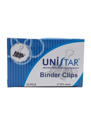 Unistar Binder Clips, Black