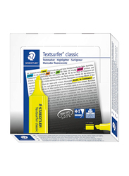 Staedtler 10-Piece Textsurfer Highlighter, 1-5mm, Yellow