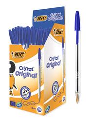 Bic 50-Piece Cristal Original Medium Point Ballpoint Pens Set, 1.0mm, Blue