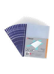 Rexel NPR/A4 Reinforced Pockets Embossed Top Opening, 100 Pieces, 12231, Clear/Blue