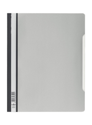 Durable 2570 Clear View Plastic Folder with Index Strip, Extra Wide A4 Size, 50-Piece, Grey