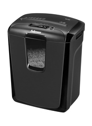 Fellowes M-8C Personal Cross Cut Paper Shredder with Safety Lock for Home Use, Black