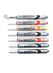 Pentel 12-Piece Maxiflo Green Label Chisel Tip Whiteboard Marker, Multicolor