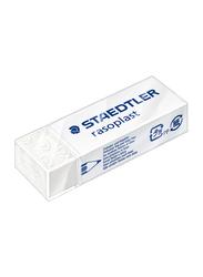 Staedtler 40-Piece Rasoplast Phthalate and PVC Free Eraser Set, White