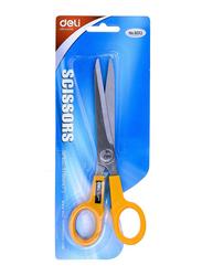 Deli 6013 7 Inch Scissors, Yellow/Silver