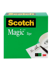 Scotch 3M 3 Inch Core Magic Tape Boxed (810), 1 x 2592 Inch, White
