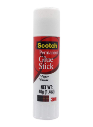 Scotch 6040 Permanent Glue Stick, 40gm, White