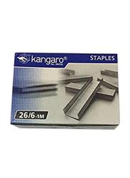 Kangaro Staple Pin, 26/6-1M, 20 Packet, Silver