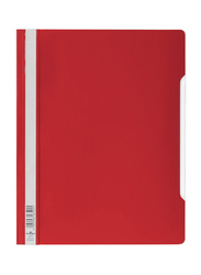 Durable Clear View Folder with Index Strip Extra Wide, A4 Size, 50 Pieces, 2570, Red