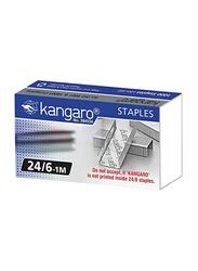 Kangaro Staple Pin, 1000 Pieces, 24/6-1M, Silver