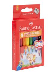 Faber-Castell 8-Piece Jumbo Color Pencil Set, Multicolor