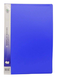 Deluxe Amt-20A3 Display Book, 20 Pockets, Blue