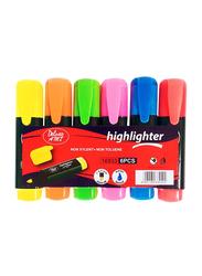 Deluxe 6-Piece Highlighter, Multicolor