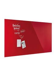 Magnetoplan Magnetic Design Glassboard, 200 X 100cm, Intense Red